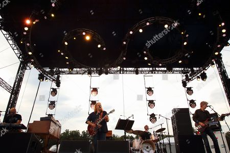 John Medeski, Warren Haynes, Joe Russo, Phil Lesh (L-R)and Phil Lesh & Friends performs at the 2014 Lockn' Festival, in Arrington, Virginia