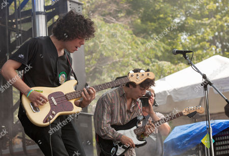 Jack Dolan and Clay Frankel of Twin Peaks seen at the 2014 Pitchfork Music Festival, on in Chicago