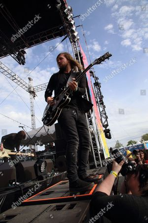 Russell Marsden and Band of Skulls performs at The Sasquatch! Music Festival at the Gorge Amphitheatre, in George, Washington