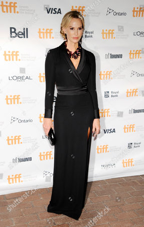 """Janet Jones Gretzky, a cast member in """"The Sound and the Fury,"""" poses at the premiere of the film at Ryerson Theatre during the Toronto International Film Festival, in Toronto"""
