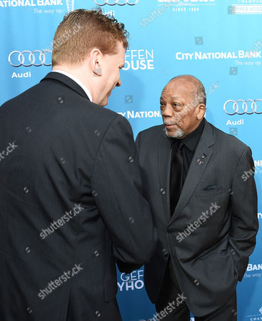 Gil Cates Jr., left, and Quincy Jones attend Backstage at the Geffen, in Los Angeles