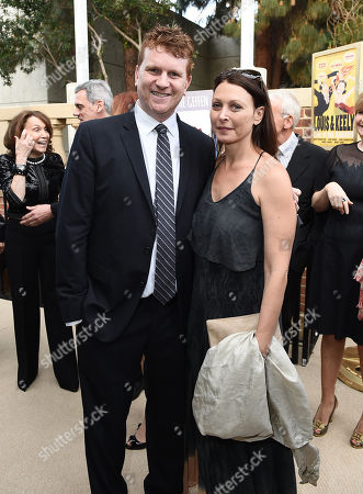 Gil Cates Jr., left, and Ronit Reichman attend Backstage at the Geffen, in Los Angeles
