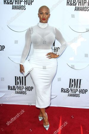 Nya Lee attends the 2015 BMI R&B/Hip-Hop Awards at the Saban Theatre on in Beverly Hills, Calif