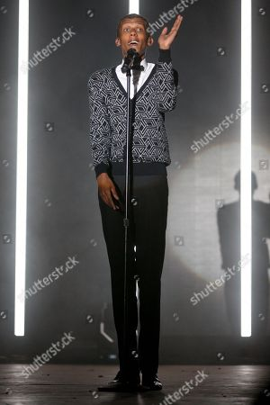 Stromae performs at the 2015 Coachella Music and Arts Festival, in Indio, Calif