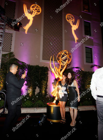 Elena Tovar, left and Alexandra Bard seen at the Television Academy's 67th Emmy Daytime Peer Group Celebration at the Montage Beverly Hills on in Beverly Hills, Calif