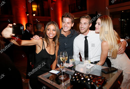 Brytni Sarpy, from left, Robert Palmer Watkins, Logan Luedtke and Hayley Erin seen at the Television Academy's 67th Emmy Daytime Peer Group Celebration at the Montage Beverly Hills on in Beverly Hills, Calif