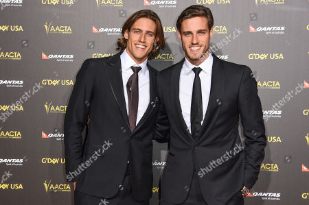 Zac Stenmark, left and Jordan Stenmark attend the 2015 Gâ?™DAY USA GALA at the Hollywood Palladium, in Los Angeles