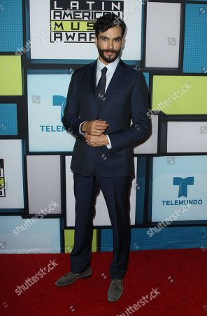 Gonzalo Garcia Vivanco poses backstage at the Latin American Music Awards at the Dolby Theatre, in Los Angeles