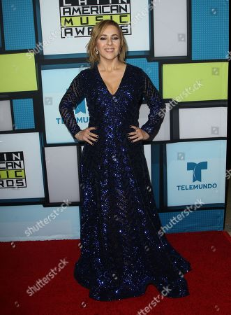 Ana Maria Canseco poses backstage at the Latin American Music Awards at the Dolby Theatre, in Los Angeles