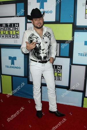 Stock Image of Roberto Tapia poses backstage at the Latin American Music Awards at the Dolby Theatre, in Los Angeles