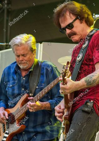 John Cowan and Tom Johnston of The Doobie Brothers seen at the Le Festival d'ete de Quebec on in Quebec City, Canada