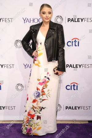 Elisabeth Harnois arrives at the 2015 PaleyFest Fall TV Previews at The Paley Center for Media, in Beverly Hills, Calif