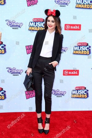 Acacia Brinley arrives at the 2015 Radio Disney Music Awards at Nokia Theatre L.A. Live on Saturday, April, 25, 2015 in Los Angeles