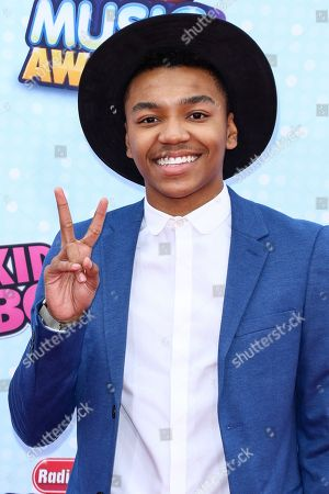 Josh Levi arrives at the 2015 Radio Disney Music Awards at Nokia Theatre L.A. Live on Saturday, April, 25, 2015 in Los Angeles