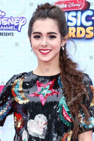 Sammi Sanchez arrives at the 2015 Radio Disney Music Awards at Nokia Theatre L.A. Live on Saturday, April, 25, 2015 in Los Angeles