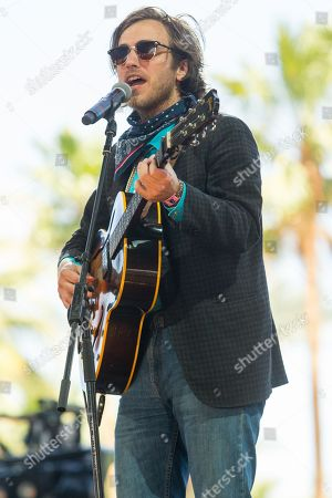 Stock Photo of Andrew Combs performs during the final day of the 2015 Stagecoach Festival at the EmpireClub, in Indio, Calif