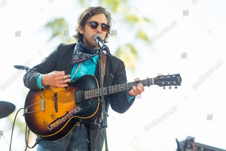 Stock Image of Andrew Combs performs during the final day of the 2015 Stagecoach Festival at the EmpireClub, in Indio, Calif