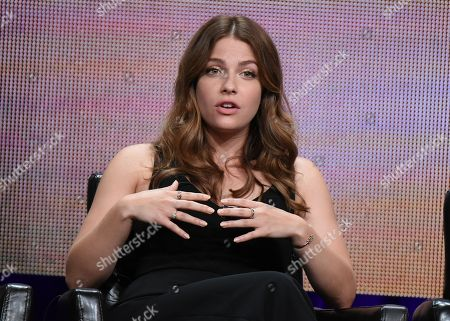 """Stock Photo of Paige Spara participates in the """"Kevin From Work"""" panel at the Disney/ABC Summer TCA Tour at the Beverly Hilton Hotel, in Beverly Hills, Calif"""