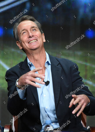 "Chris Collinsworth participates in the ""Monday Night Football"" panel at the NBCUniversal Television Critics Association Summer Tour at the Beverly Hilton Hotel, in Beverly Hills, Calif"