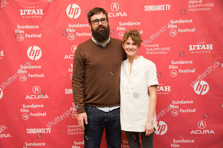 "Director Jared Hess, left, and co-writer Jerusha Hess attend the ""Don Verdean"" premiere during the 2015 Sundance Film Festival, in Park City, Utah"