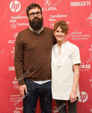 """Stock Photo of Director Jared Hess and co-writer Jerusha Hess attend the """"Don Verdean"""" premiere during the 2015 Sundance Film Festival, in Park City, Utah"""