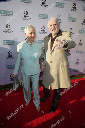 """Stock Image of Shirley Jones, left, and Marty Ingels arrive at the 2015 TCM Classic Film Festival Opening Night Gala """"The Sound Of Music"""" at TCL Chinese Theatre on in Los Angeles"""