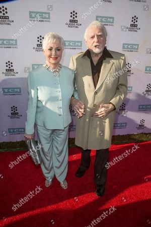 """Shirley Jones, left, and Marty Ingels arrive at the 2015 TCM Classic Film Festival Opening Night Gala """"The Sound Of Music"""" at TCL Chinese Theatre on in Los Angeles"""