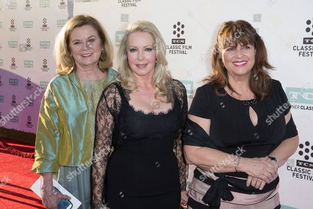 """Heather Menzies-Urich, from left, Kym Karath and Debbie Turner arrive at the 2015 TCM Classic Film Festival Opening Night Gala """"The Sound Of Music"""" at TCL Chinese Theatre on in Los Angeles"""