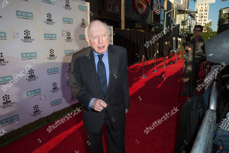 """Stock Image of Norman Lloyd arrives at the 2015 TCM Classic Film Festival Opening Night Gala """"The Sound Of Music"""" at TCL Chinese Theatre on in Los Angeles"""