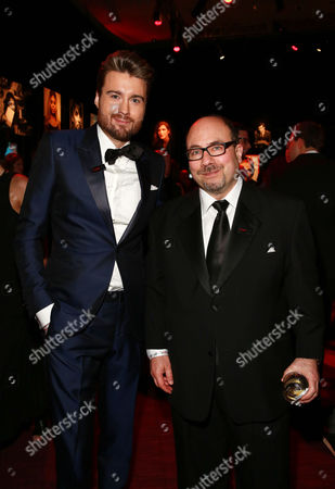 Pete Cashmore and Craig Newmark attend the 2015 TIME 100 Gala cocktail reception, to celebrate the 100 most influential people in the world, at the Frederick P. Rose Hall, Time Warner Center, in New York
