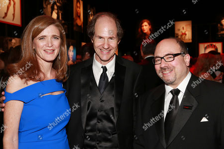 Samantha Power, Cass Sunstein and Craig Newmark attend the 2015 TIME 100 Gala cocktail reception, to celebrate the 100 most influential people in the world, at the Frederick P. Rose Hall, Time Warner Center, in New York