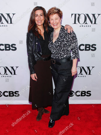 Jeanine Tesori, left, and Lisa Kron, right, attend the 2015 Tony Awards Meet The Nominees Press Junket at The Paramount Hotel, in New York