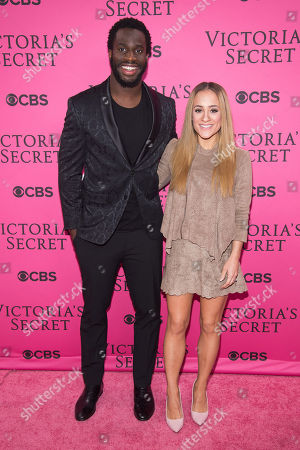 Stock Picture of Prince Amukamara and Pilar Davis attend the 2015 Victoria's Secret Fashion Show at the Lexington Armory, in New York. The Victoriaâ?™s Secret Fashion Show will air on CBS on Tuesday, December 8th at 10pm EST