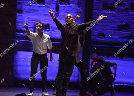Lil' Buck and dancers perform at Backstage at the Geffen, in Los Angeles