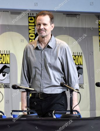 """Stock Picture of Michael Biehn walks on stage at the """"Aliens: 30th Anniversary"""" panel on day 3 of Comic-Con International, in San Diego"""