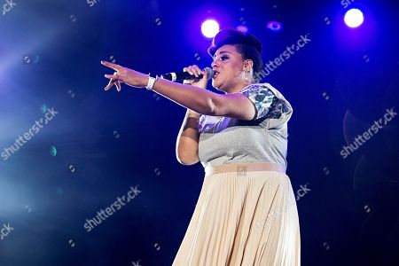 Marsha Ambrosius seen during the Prince Tribute at 2016 Essence Festival at the Mercedes-Benz Superdome, in New Orleans