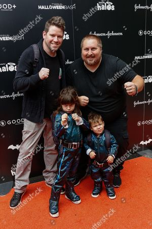 Stock Photo of Bill Horn, from left, Scout Masterson and family attend the 2016 GOOD + Foundation Halloween Bash at Gower Studios, in Los Angeles