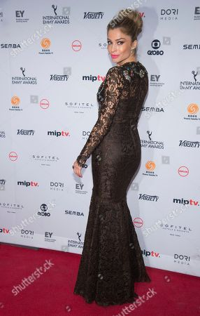 Stock Image of Grazi Massafera attends the 44th International Emmy Awards at the New York Hilton, in New York