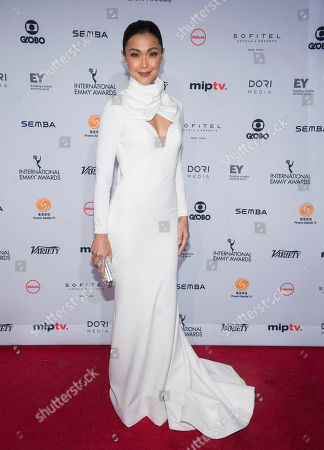 Stock Photo of Jodi Sta. Maria attends the 44th International Emmy Awards at the New York Hilton, in New York