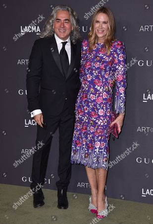 Mitch Glazer and Kelly Lynch arrive at the 2016 LACMA Art + Film Gala on in Los Angeles