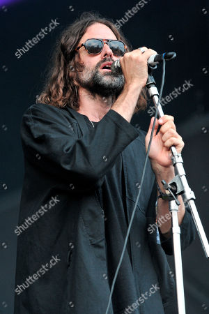 Andrew Wyatt of Miike Snow performs on day 2 at Lollapalooza in Grant Park, in Chicago