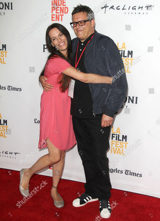 """Samantha Phillips, left and Paul Toogood seen at The 2016 Los Angeles Film Festival - """"Dying Laughing"""" at ArcLight Culver City 2 Theater, in Culver City, Calif"""