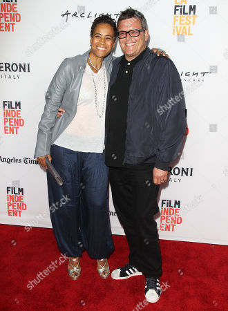 """Daphne Wayans, left and Paul Toogood seen at The 2016 Los Angeles Film Festival - """"Dying Laughing"""" at ArcLight Culver City 2 Theater, in Culver City, Calif"""