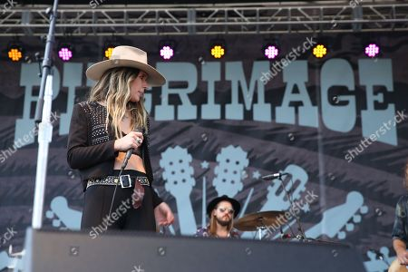 Artist Natalie Bergman of the band Wild Belle performs at Pilgrimage Music and Cultural Festival on in Franklin, Tenn