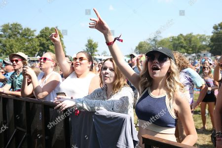 Fans cheer on artist LunchMoney Lewis at Pilgrimage Music and Cultural Festival on in Franklin, Tenn