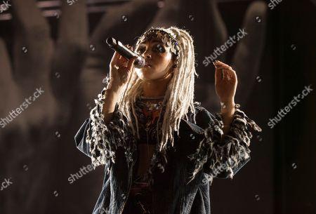 Tahliah Debrett Barnett aka FKA Twigs seen at the 2016 Pitchfork Music Festival on in Chicago