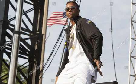 Stock Image of Jeremy Felton aka Jeremih seen at the 2016 Pitchfork Music Festival on in Chicago