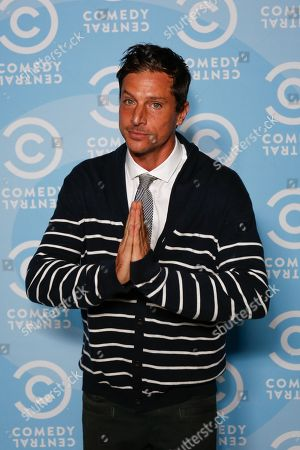 Stock Image of Simon Rex arrives at the 2016 Primetime Emmy Awards - Comedy Central Pre Party, in Los Angeles