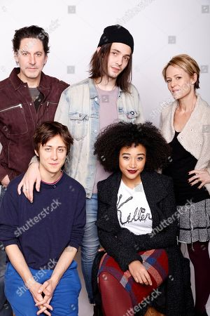 """Clockwise, from left, Actor Scott Cohen, director Miles Joris- Peyrafitte, and actors Mary Stuart Masterson, Amandla Stenberg, and pose for a portrait to promote the film, """"As You Are"""", at the Toyota Mirai Music Lodge during the Sundance Film Festival on in Park City, Utah"""