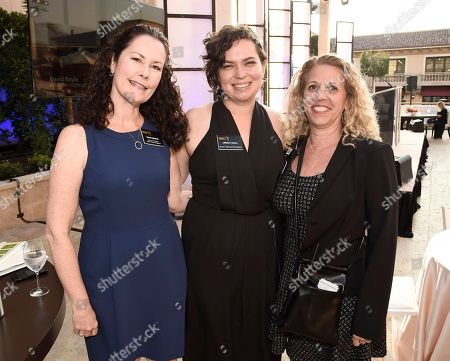 Susan Spencer, SVP media and brand management, Lindsay Scola, director of talent and public relations, and Barrie Nedler, senior director of event production are seen at 2016 Television Academy Honors at The Montage Hotel, in Beverly Hills, Calif